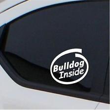 2x Bulldog  stickers Inside car decals
