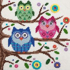 Canoodles-- Owls-- Needlepoint Kit Alice Peterson Company http://www.amazon.com/dp/B00VKVWZUG/ref=cm_sw_r_pi_dp_rEGhvb00MM6AE