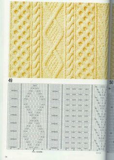 "Photo from album ""Узоры спицами on Yandex. Cable Knitting, Knitting Charts, Knitting Stitches, Knitting Designs, Knitting Patterns Free, Hand Knitting, Lace Patterns, Stitch Patterns, Crochet Patterns"