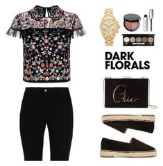 """""""Dark Florals (2)"""" by pure-vnom ❤ liked on Polyvore featuring STELLA McCARTNEY, Needle & Thread, Chloé, Michael Kors, Kate Spade, Bobbi Brown Cosmetics and darkflorals"""