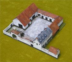 Fully assembled and painted Airfix Waterloo Farm house. Building Concept, Building Design, Building A House, Minecraft Blueprints, Minecraft Projects, Waterloo Battlefield, Bataille De Waterloo, Japanese Style House, Airfix Kits