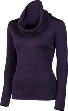 "JASMINE | 25"" Drape Neck Pullover | Merino | color: Aubergine | $174 | www.krimsonklover.com"
