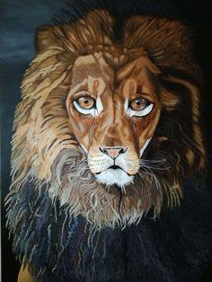 The Lion large original painting by FairytaleWORLDofART on Etsy Art World, Fairytale, Original Paintings, Lion Sculpture, Fantasy, Statue, The Originals, Unique Jewelry, Handmade Gifts