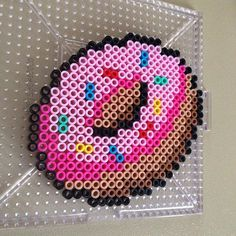 Donut perler beads by Dana Neiford