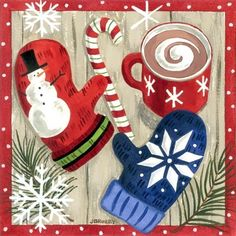 Merry Mittens-Cocoa by Jennifer Brinley | Ruth Levison Design