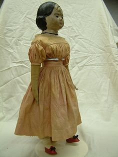Antique 'Linen Face' Cloth Doll, thought to be from Massachusetts, circa 1850.  Lou McCulloch Collection.