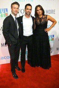 Danny, Mariska and Peter Scanavino at the Joyful Heart Foundation Gala 2015