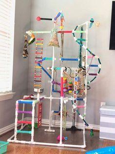 Not mine – Animals Diy Parrot Toys, Diy Bird Toys, Parrot Perch Diy, Parakeet Toys, Diy Cockatiel Toys, Parakeet Cage, Bird Play Gym, Homemade Bird Toys, Parrot Play Stand