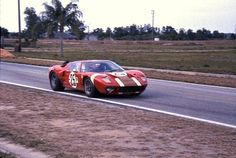 Whitmore/Gardner GT40 at Sebring 1966. Started 7th. DNF Clutch failure. Entered by Alan Mann Racing.