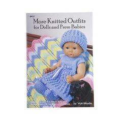 Craft Moods More Knit Outfit Dolls & Prem Babies White