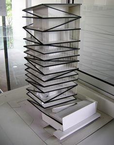study model for QI building miami,  rojkind arquitectos and derek dellekamp