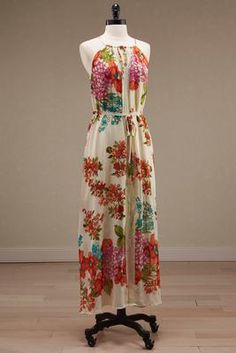 Versona belted floral maxi dress #Versona