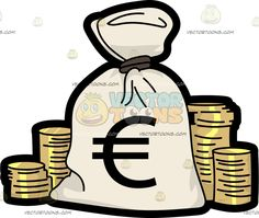 a bag of money and bundles of cash pinterest clip art and cartoon rh pinterest com  bag of money clipart free