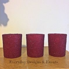 12 Burgundy Candle Holders Wedding Decoration Wedding Centerpieces Bridal Shower Burgundy Decorations Burgundy Bridesmaid Table Decor by EverydayDesignEvents on Etsy https://www.etsy.com/listing/538834299/12-burgundy-candle-holders-wedding