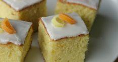 Marias Salt og Søtt: Sitronkake i langpanne(Lemon traybake) Lemon Traybake, Canned Blueberries, Scones Ingredients, Norwegian Food, Baking Tins, Baking Cakes, Pastel, Muffin Recipes, Let Them Eat Cake