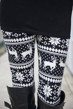 This website has the cutest leggings and scarves. I've never seen this many printed leggings in one place! I love these blackand white reindeer print leggings Cute Leggings, Printed Leggings, Leggings Are Not Pants, Warm Leggings, Awesome Leggings, Tribal Leggings, Basic Leggings, Knit Leggings, Sports Leggings