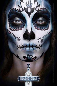 dia de los muertos men face paint