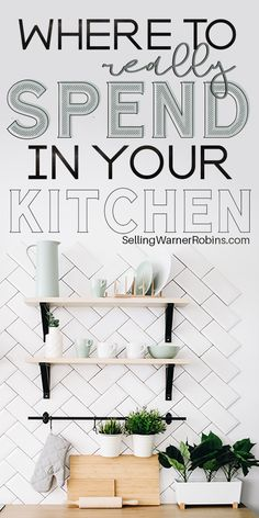 Is your kitchen needing some updates? Perhaps you don't know where to really start. No need to fret! If you're going to remodel your kitchen you'll want to focus spending your money in these 17 specific areas to really maximize the value. #kitchens #kitchendesign #realestate Real Estate Buyers, Real Estate Tips, Black And White Backsplash, Wooden Island, Kitchen Ideas, Kitchen Design, Home Buying Process, Shops, Wooden Doors