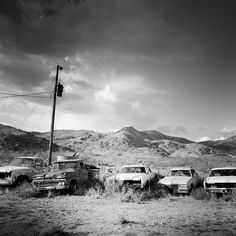 Route 66 Arizona, Arizona Usa, Panorama Camera, Junkyard Cars, Black And White Landscape, Affordable Art, All Pictures, Black And White Photography, Art For Sale