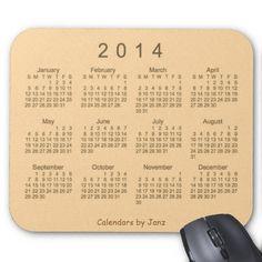 Desert Sand 2014 Calendar Mouse Pad Design from Calendars by Janz