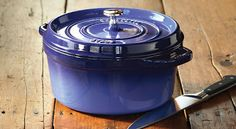 Win a french blue 5 qt oval cocotte from Staub at Camp Wander!