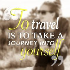 To Travel is to take a Journey into Yourself. #Nakshatratrip.