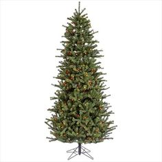 NorthLight 45 ft PreLit Carver Slim Artificial Christmas Tree  DuraLit Multi Color Lights >>> You can get more details by clicking on the image.
