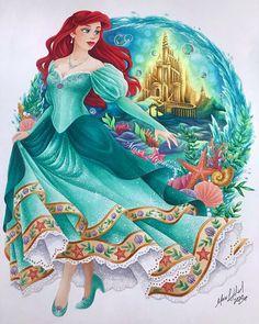 Princesa Ariel Da Disney, Disney Princess Ariel, Disney Princess Pictures, Princess Art, Images Disney, Disney Pictures, Disney Fan Art, Disney Disney, Disney Artwork