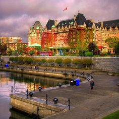 I had the most amazing High Tea here.. In the Harbor there was a tall ship sailing fleet in town, including the ship from Pirates of the Carribean movies. Incredible! The Empress Hotel, Victoria, BC