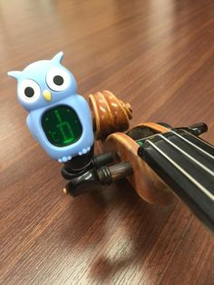 violin blue owl