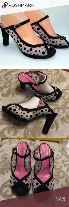 """Sonia Rykiel Sandals. SONIA RYKIEL Polka Dot Mary Jane sandals. Made in Italy. First picture is for reference only. Used but in good condition. Heel height 4"""" including front .7"""" platform. Sonia Rykiel Shoes Platforms"""