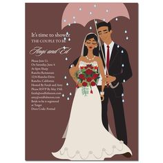 african american bridal shower invitations umbrella diva