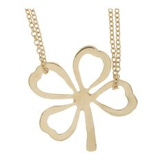 Zoe Chicco Gold Clover Necklace ($600) ❤ liked on Polyvore featuring jewelry, necklaces, adjustable chain necklace, clover necklace, 14 karat gold necklace, 14k necklace and 14k gold jewelry