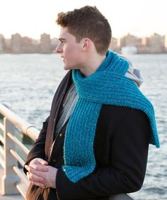 Easy Ribbed Scarf for All Free Knitting Pattern in Red Heart Yarns