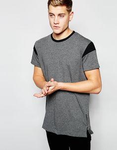 Image 1 ofHoxton Denim T-Shirt Trim Zips