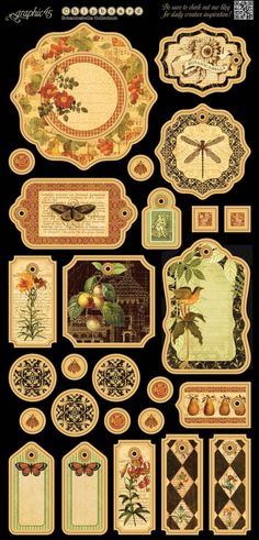 The chipboard that comes with the Botanicabella Deluxe Collector's Edition pack #graphic45 #sneakpeeks