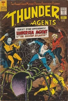 "vintagegeekculture: "" Wally Wood. THUNDER Agents, unlike a lot of other stuff from the same time, really, really holds up. """