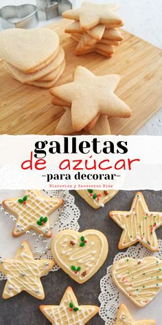 Galletas decoradas – Welcome My World Christmas Sugar Cookies, Christmas Candy, Christmas Desserts, Gingerbread Cookies, Biscuits, Christmas Decorations To Make, Cupcake Cookies, Cookie Decorating, Cookie Recipes
