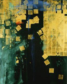 """Makoto Fujimura's Soliloquies - Joy  [Mineral Pigments, Gold on Belgian Linen 80x64""""]"""