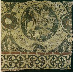 The Cloth of St. Gereon is a tapestry from late in the early middle ages showing not only period colors and craft but also medieval symbols.