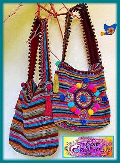"""New Cheap Bags. The location where building and construction meets style, beaded crochet is the act of using beads to decorate crocheted products. """"Crochet"""" is derived fro Crochet Shell Stitch, Crochet Stitches, Crochet Patterns, Love Crochet, Knit Crochet, Crochet Handbags, Crochet Bags, Crochet Market Bag, Boho Bags"""