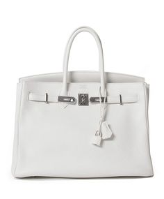 Hermes Birkin 35 White Togo PHW Your go-to shopping place for vintage & pre-loved designer luxury.
