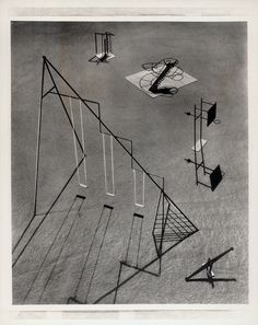 """midcenturymodernfreak: """"(Top) The Saul Bass Playground model is from a 1961 Graphis issue (Bottom 2 photos) 1952 Isamu Noguchi's Playground Proposal for UN's New York Headquarters. Breaking out of the jungle gym and swing structures, the playground. Modern Playground, Playground Design, Children Playground, Park Playground, Isamu Noguchi, Ala Moana, High Museum, Piedmont Park, Sand And Water"""
