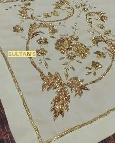 Best 12 Women formal pants, grey cotton silk with handwork, pants – SkillOfKing. Zardosi Embroidery, Hand Embroidery Dress, Hand Embroidery Videos, Embroidery Suits Design, Couture Embroidery, Flower Embroidery Designs, Creative Embroidery, Embroidery Motifs, Gold Embroidery