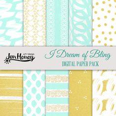 I Dream of Bling Digital Paper Pack #digitalscrapbooking