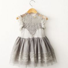 """STELLA"" Gray Lace Dress"