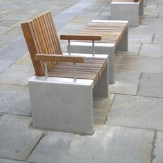 Inline Hardwood Seats: Ancoats - Street Furniture by Woodscape Bespoke Hardwood street furniture. #Timber #outdoor #furniture #landscaping #streetfurniture #seating