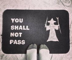 #DIY #doormat #youshallnotpass #lotr