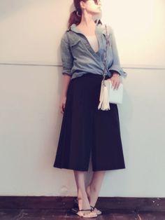 Yuriko Tatedaさんのカーゴパンツ「FAMUL MODAL 」を使ったコーディネート
