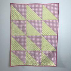 Pink Lemonade Quilt / Baby Quilt / Baby Blanket / Vintage